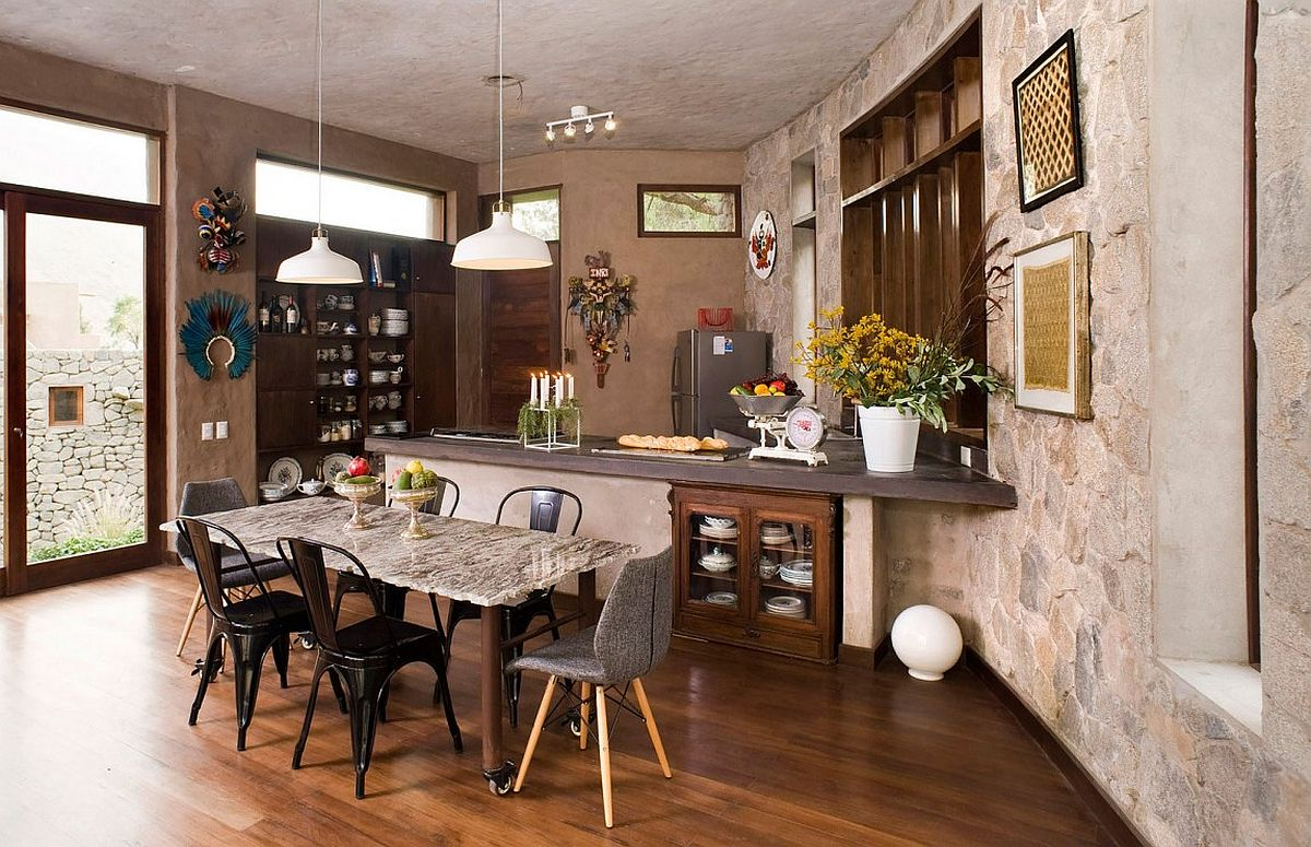 Rustic modern kitchen of Casa Chontay