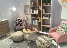 Shabby chic is the style of choice at this La Forma display