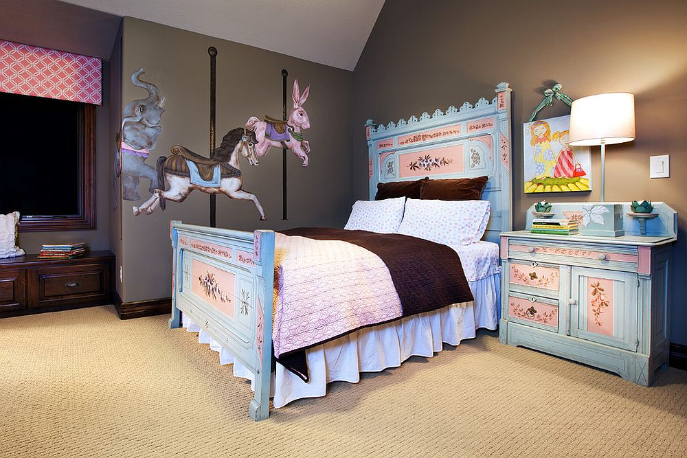 Shabby chic kids' rooms do not get cooler than this!