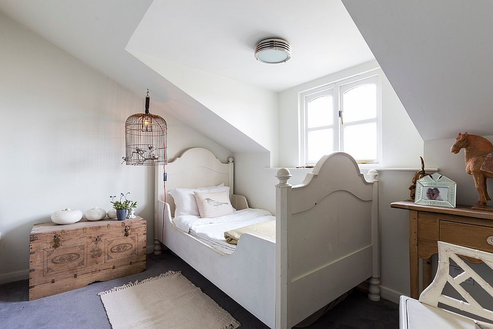 Shabby chic style kids' bedroom in London home with limited space to use [Design: Chris Snook]