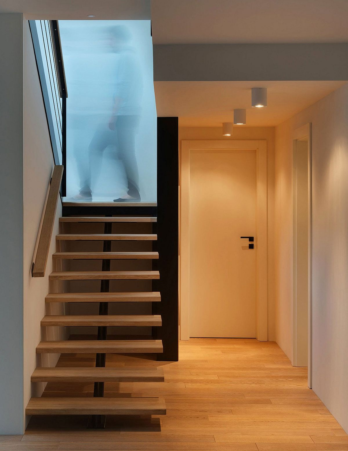 Simple and beautiful staircase leading to the top level
