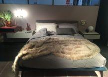 Sleek bedside units serve beautifully as nigtstands in the small bedroom