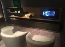 Sleek cabinet for the living room entertainment unit