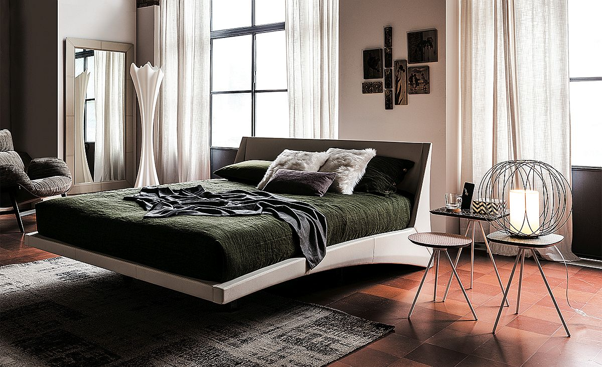 Sleek contemporary bed design from Andrea Lucatello for Cattelan Italia