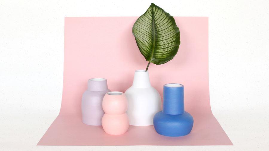 Sleek vases from Lindsey Hampton