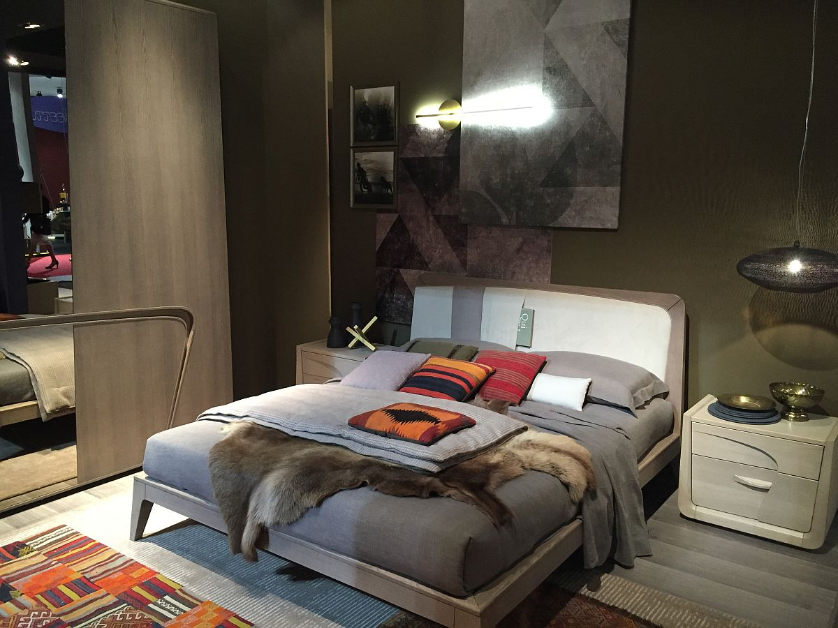 Design Small Bedroom.  Small bedroom design idea with elegance of gray incorporated 45 Trendy Bedroom Ideas Seen in Milan 2016