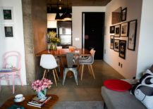 Small dining room with Tom Dixon pendants