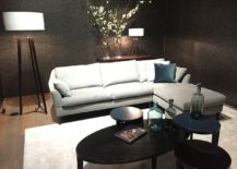 Small sectional makes most of the corner space in the living room - JAB Anstoetz at Salone del mobile 2016
