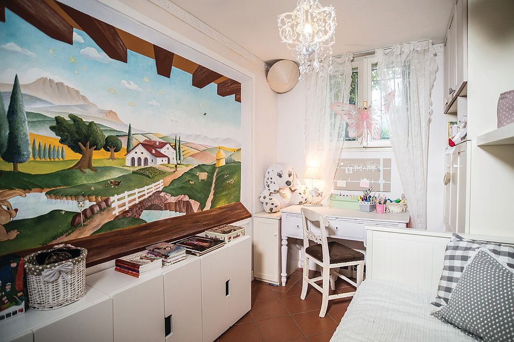Small shabby chic style kids' bedroom [Design: Francesca Blasi - Creazione d' Atmosfere]