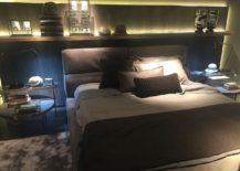 Smart use of the headboard wall above the bed with a sleek floating shelf - Frigerio at Salone del Mobile 2016