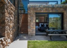 Solid stone walls offer ample protection from the elements i the west and east directions
