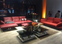 Splash of bright red for the peppy living space - Luxurious sofas from Koinor with casual appeal
