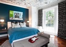Splatter-paint-ceiling-for-the-kids-room-217x155