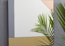 Square colorblocked mirror from West Elm 217x155 A Trendy Reflection: Tinted Mirror Style