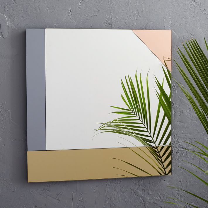 Square colorblocked mirror from West Elm