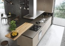 Standalone-wooden-attachment-to-the-kitchen-island-can-be-used-in-a-variety-of-ways-217x155
