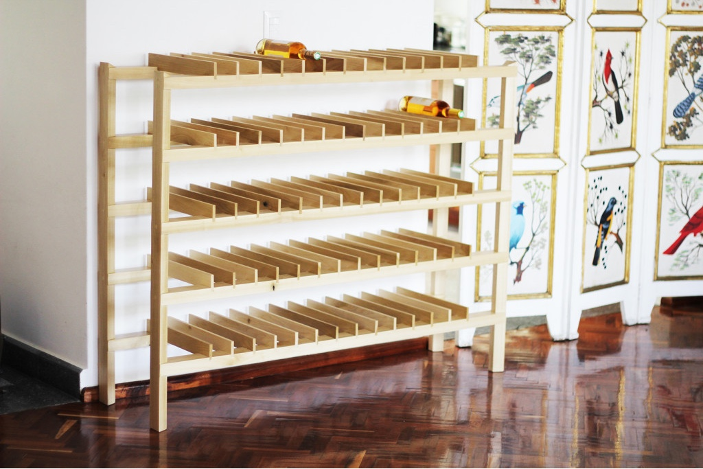 Stricta. Clean and unpretentious storage for up to sixty-five bottles.