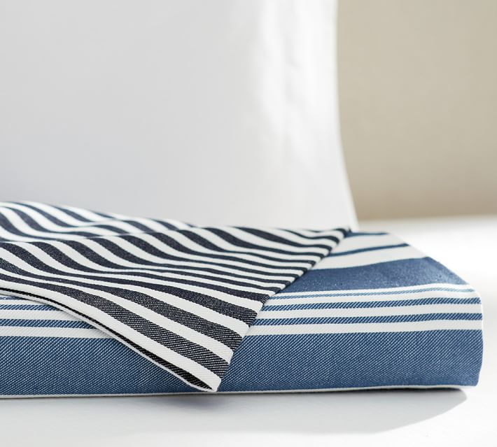 Striped blankets from Pottery Barn
