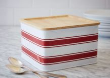 Striped canister from West Elm
