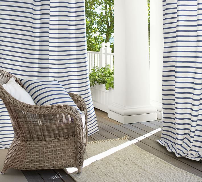 Striped curtains from Pottery Barn