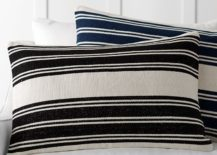 Striped dhurrie pillow covers from Pottery Barn