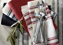 Striped napkins from Williams-Sonoma