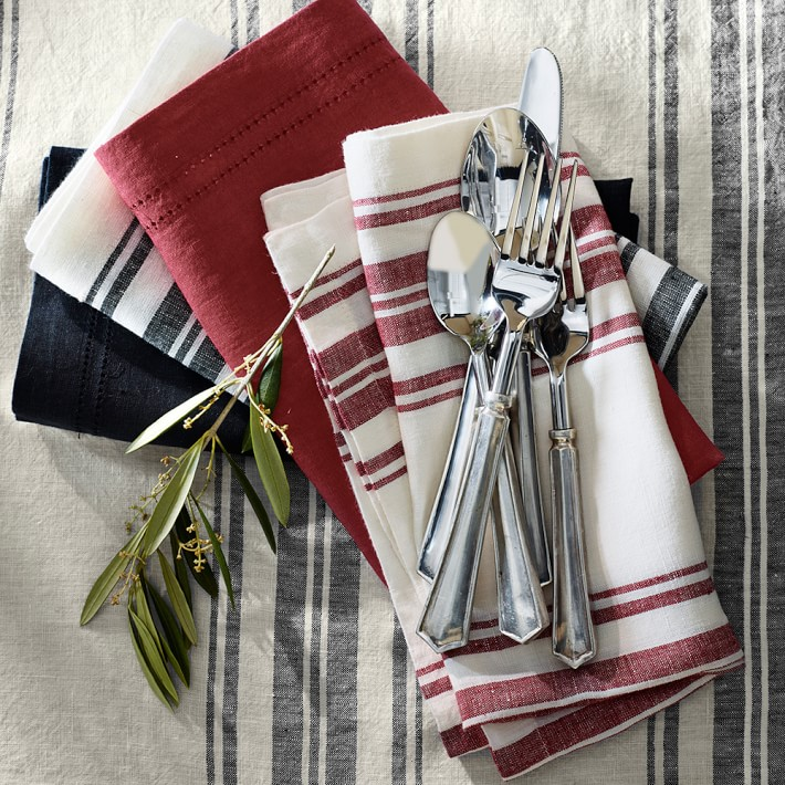 Striped napkins from Williams-Sonoma