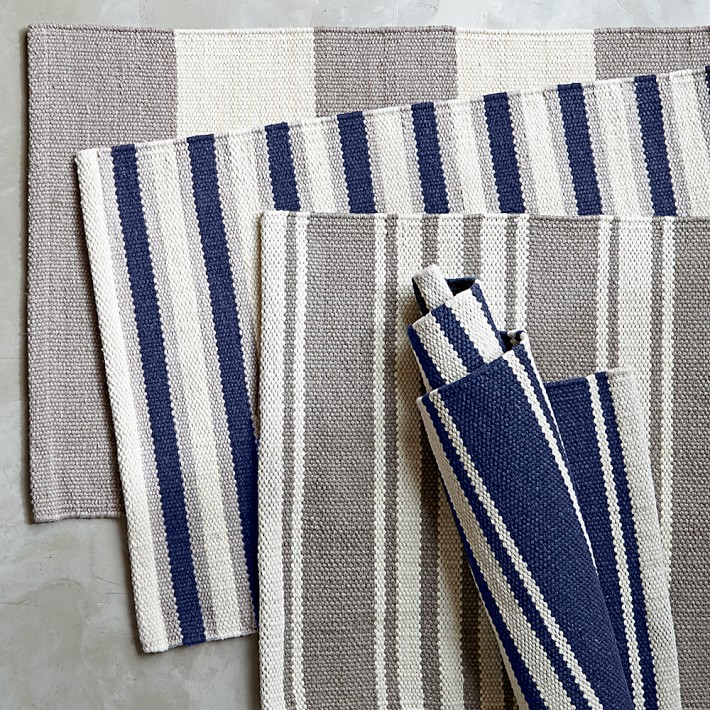 Striped rugs from Williams-Sonoma