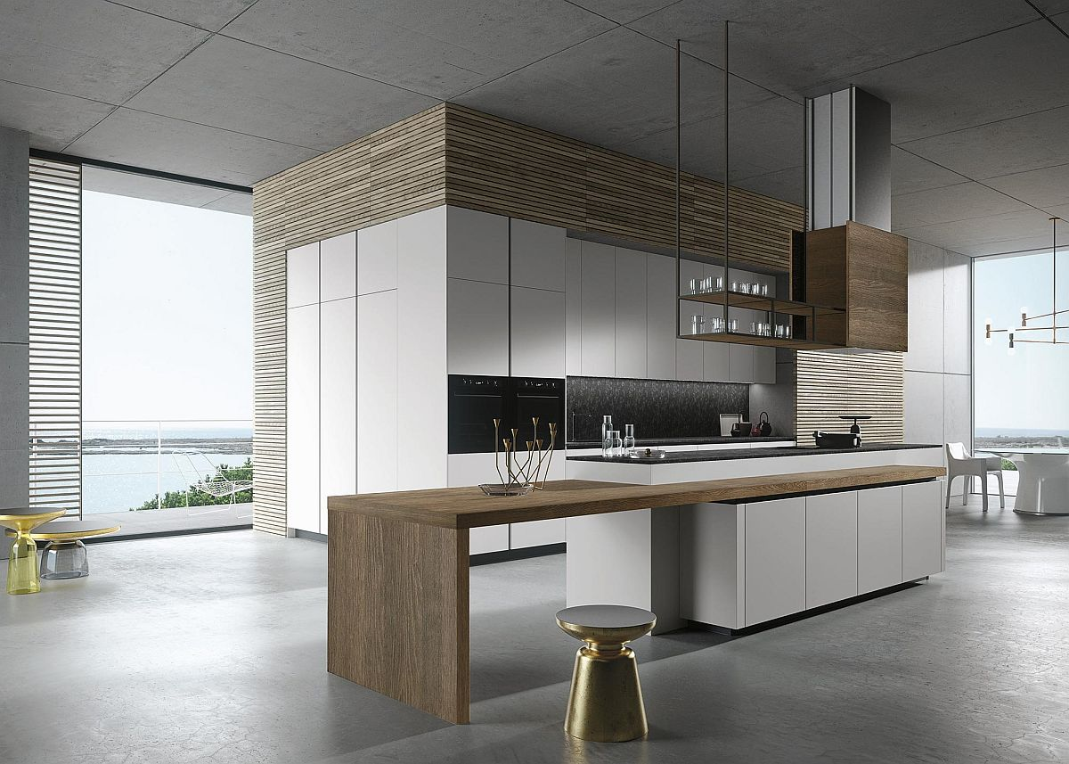 Stunning minimal kitchen design from Michele Marcon for Snaidero