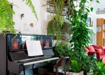 Stunning use of indoors plants creates a refreshing and cheerful ambiance
