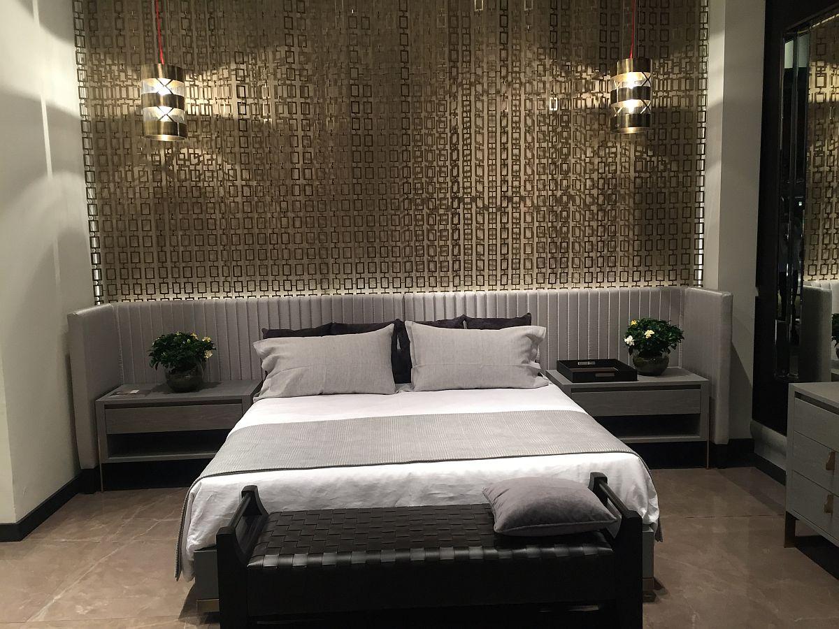Stylish modern bedroom from Bellavista at Milan 2016