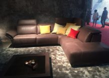Stylish sectional with movable footrest offers ample comfort even while viewing TV - Nicoline at Milan 2016