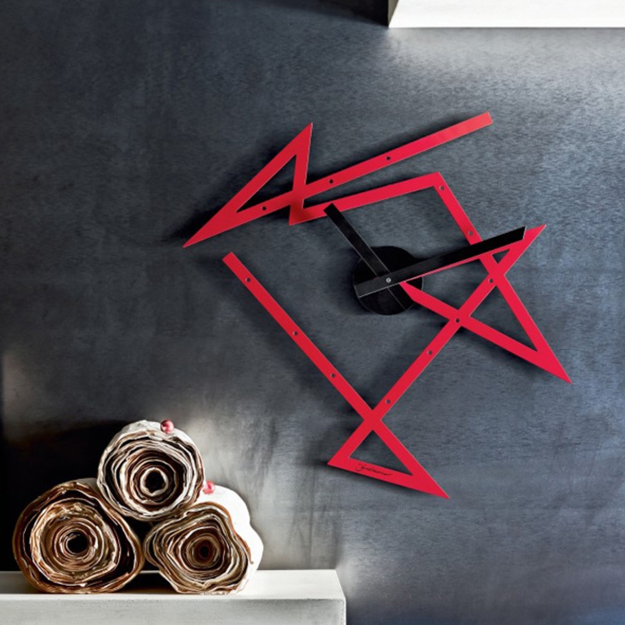 Alessi was founded in 1921 by Giovanni Alessi. The new Time Maze wall clock by Daniel Libeskind for Alessi, is part of the company's Spring/Summer 2016 Collection. Image via Alessi.