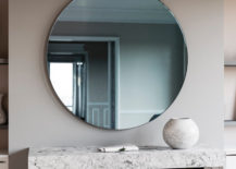 Tinted blue Art Deco mirror