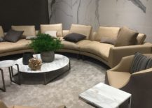 Touch of marble glam for the living room with smart coffee tables and sidetables -  I 4 Mariani at Milan 2016
