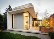 Traditional Victorian home with a modren rear extension