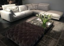 Tufted coffee table or a plush ottoman - You decide!