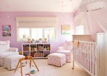 Turn towards lighters shades of lilac and purple for an ultra cute nursery 217x155 20 Gorgeous Nurseries with Purple Panache