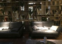 Unending wall of shelves filled with books grabs your attention instantly - Living room trends from Salone del Mobile 2016