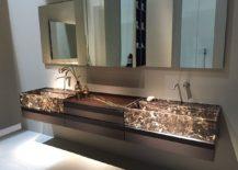 Unique bathroom vanity idea in stone