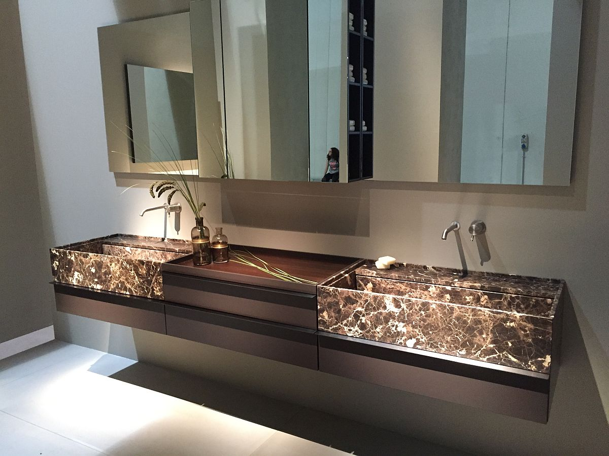 Unique bathroom vanity idea in stone decoist Unique bathrooms