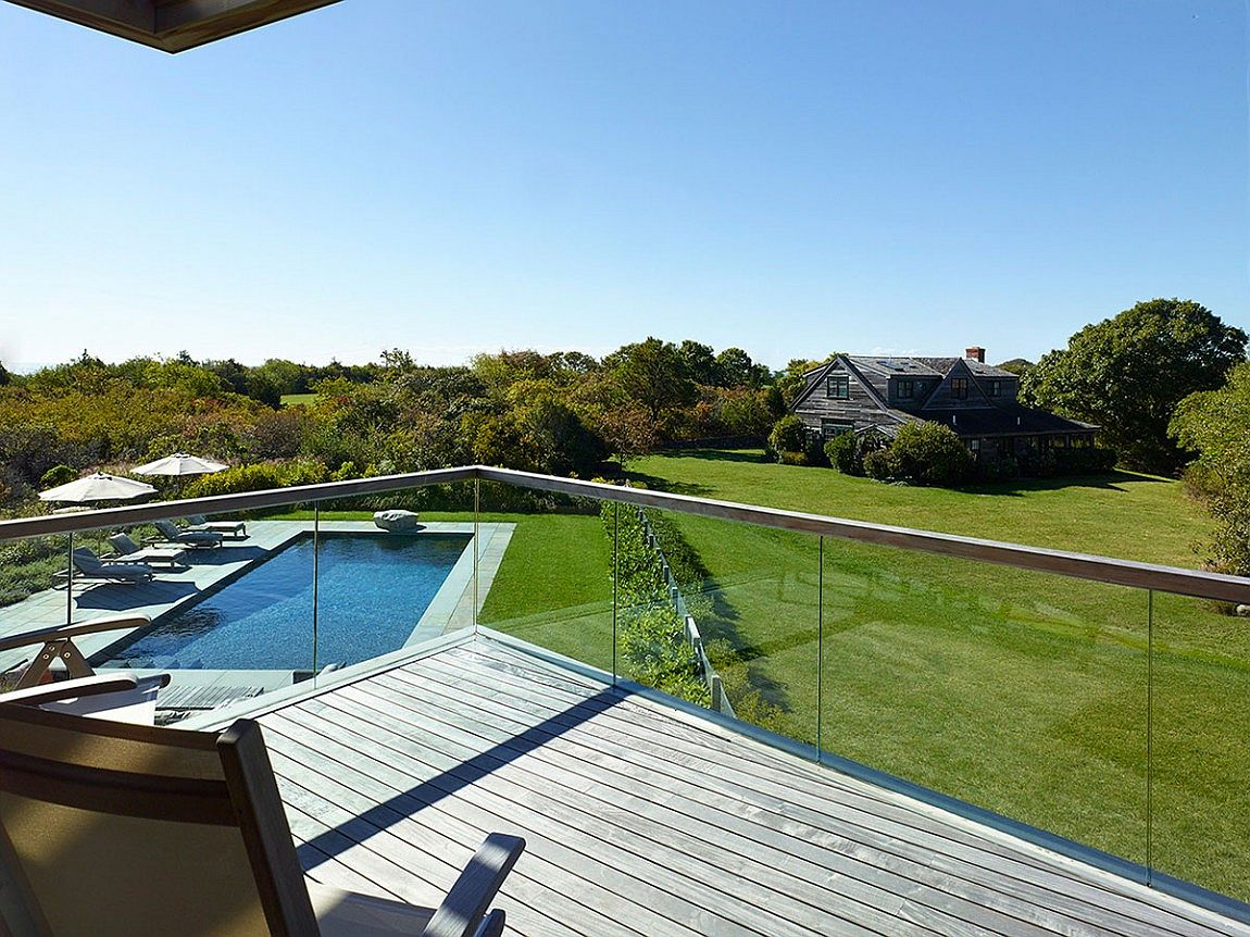 View of the distant landscape from the hillside home on Martha's Vineyard