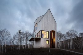 A Cabin Unlike Any Other Overlooks Rugged Coastline and Forest Canopy!