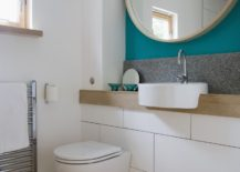 Vivid bathroom accent wall 217x155 Helpful Tips for Creating an Accent Wall