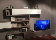 Wall-mounted organization solutions and display units for the small living room