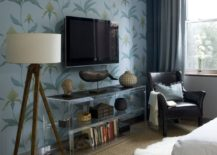 Wallpapered-accent-wall-in-a-modern-bedroom-217x155