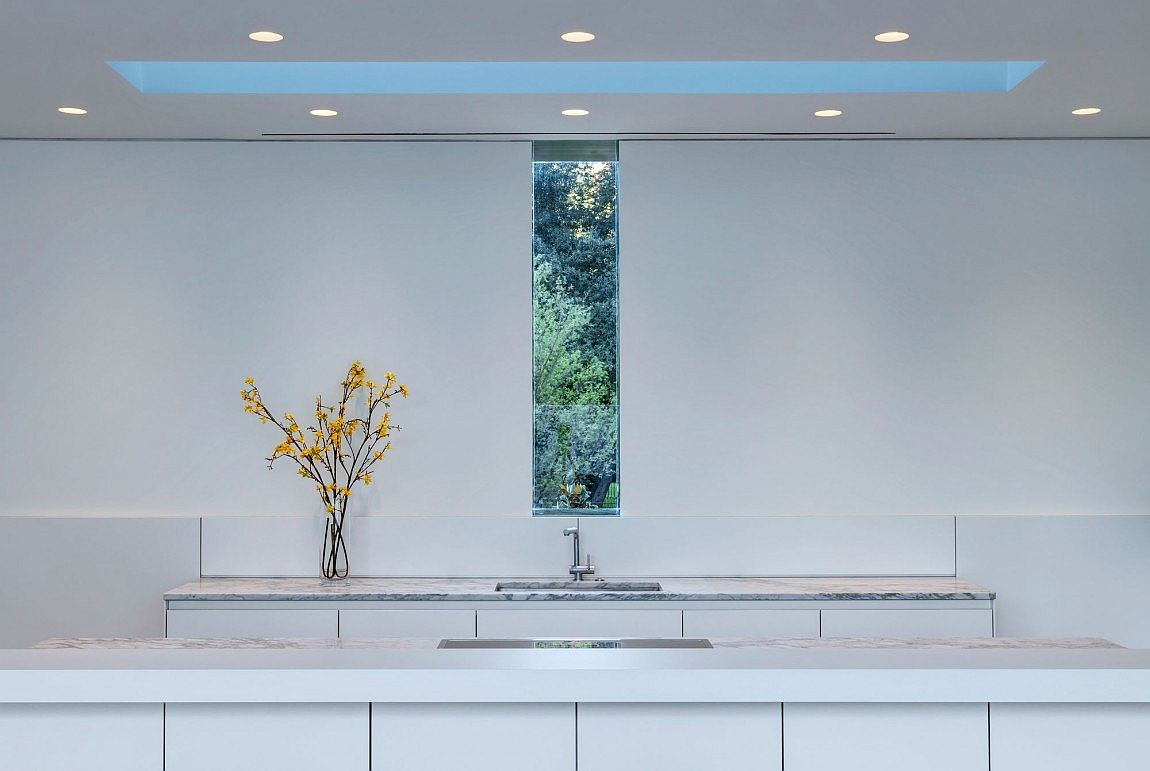 White is the color of choice inside the contemporary kitchen