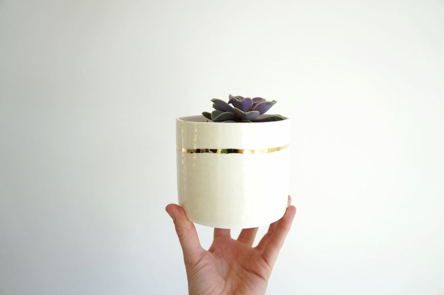 White planter from The Object Enthusiast