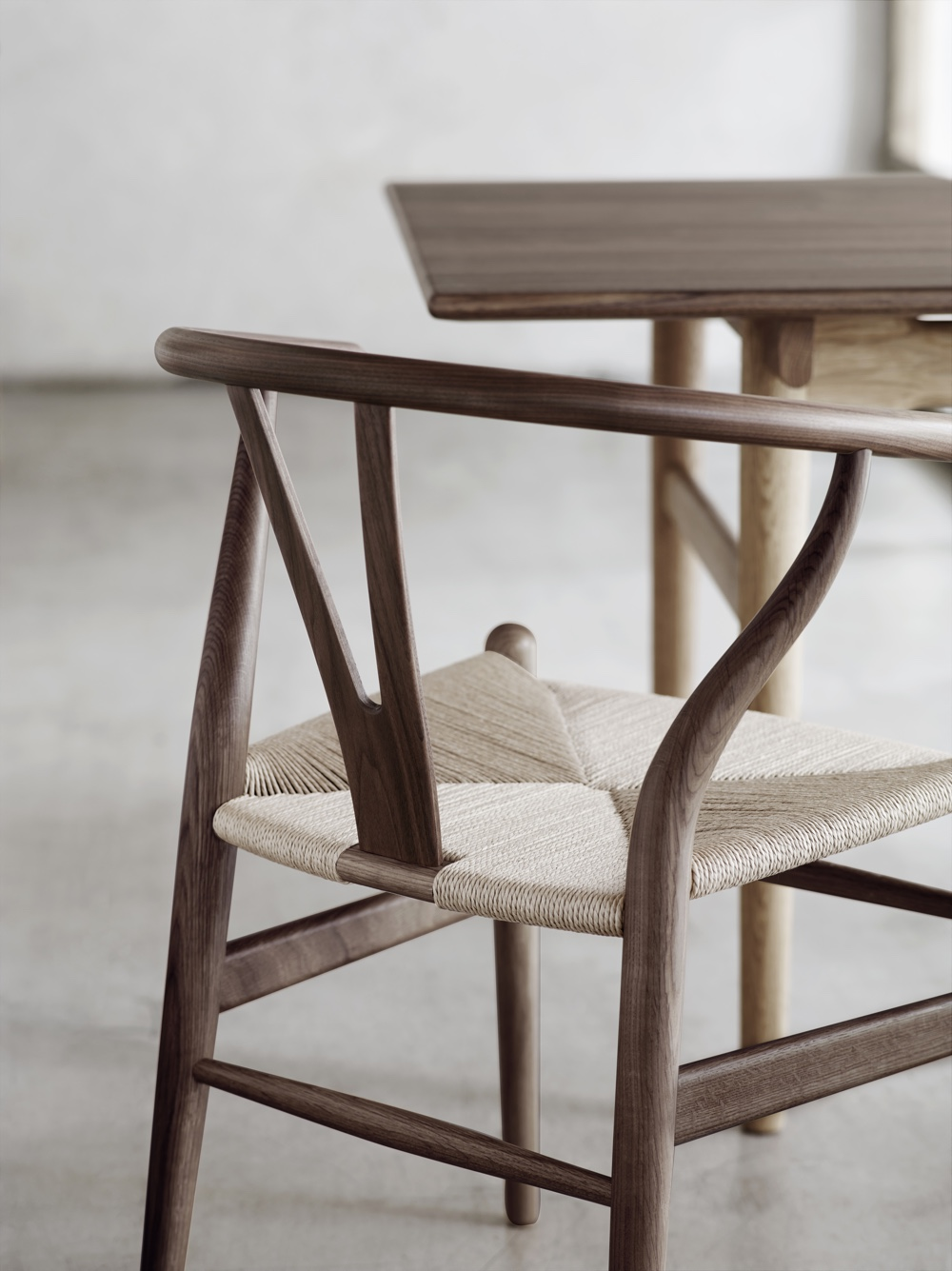 Wishbone Chair detail. Image © Carl Hansen & Søn.