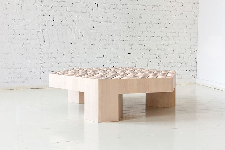 Wooden hexagonal table from Fort Standard
